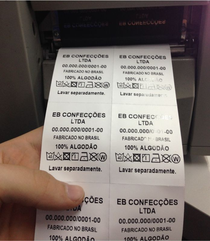 Fabricante de etiquetas de composição nylon