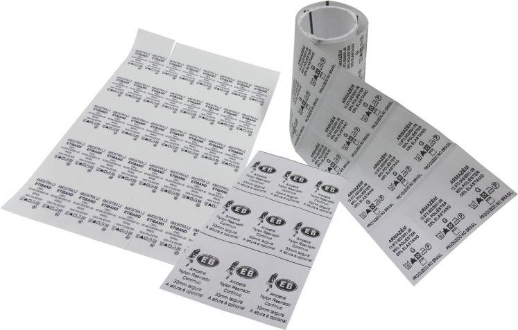 Etiqueta de composição nylon resinado