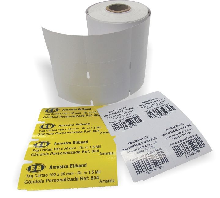 Tags de papel cartão